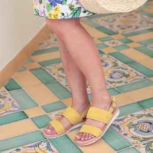 CASLON Claire Slingback Sandals - Lime / Yellow